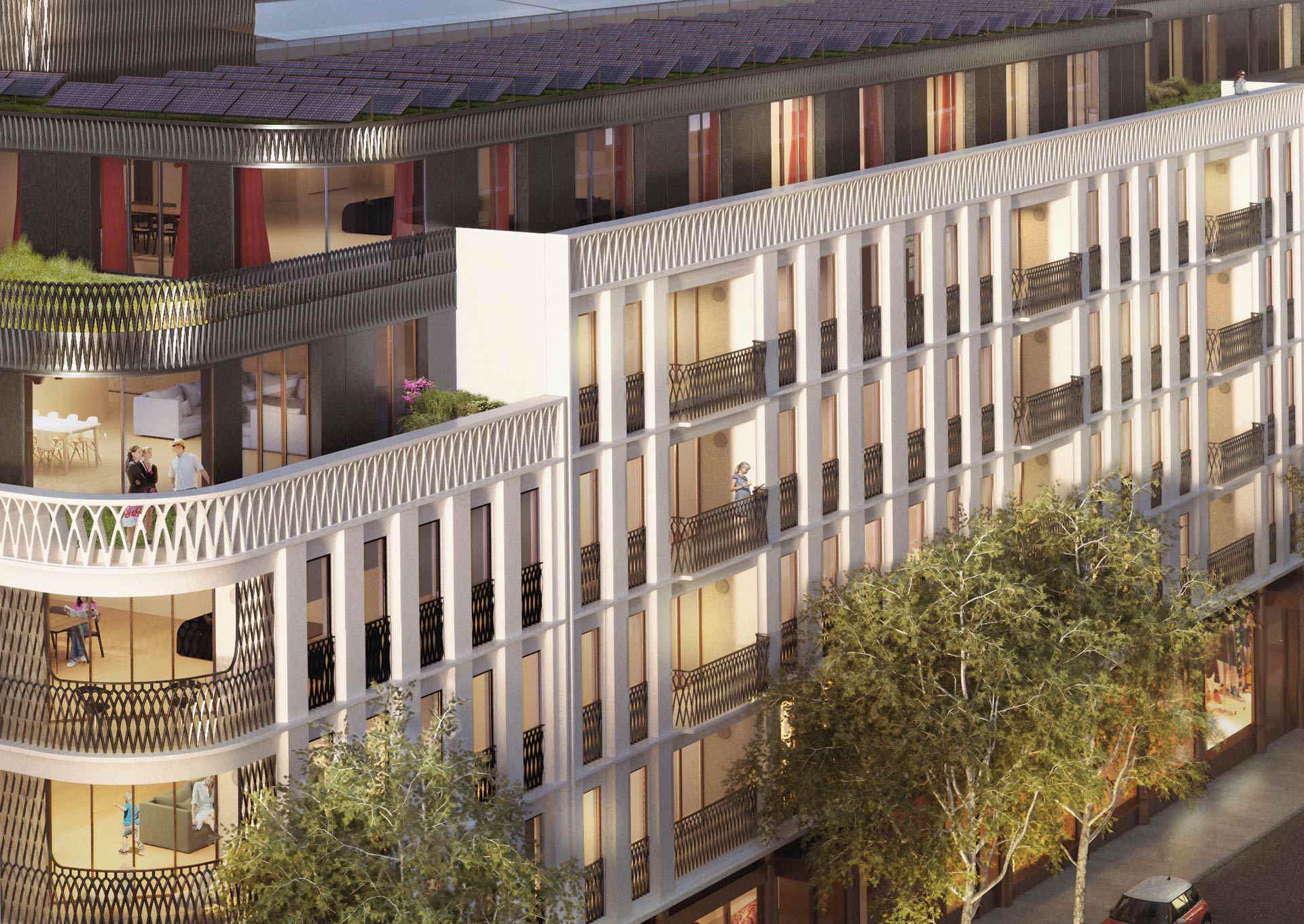 Wizualizacja 3D inwestycji deweloperskiej w Londynie na Moxon Street