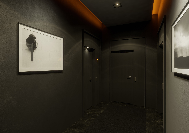 Hotel corridor - 3D visualization